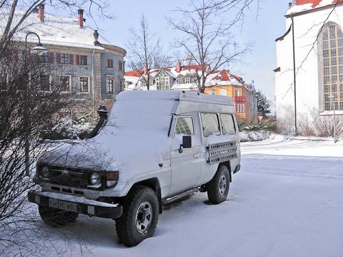 Toyota im Schnee